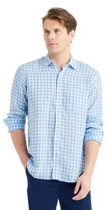 J.Mclaughlin Gramercy Regular Fit Linen Shirt in Gingham