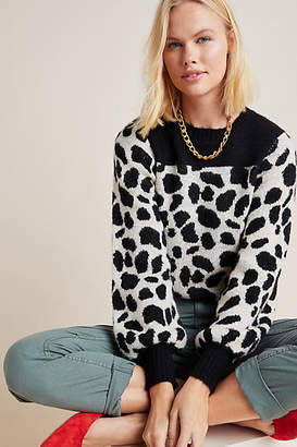 Anthropologie Cole Animal-Printed Sweater