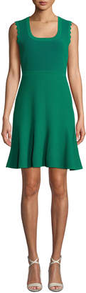 Diane von Furstenberg Adi Ribbed Sleeveless Short Dress