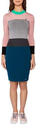 Ted Baker Colour by Numbers Reii Color-Block Knit Dress