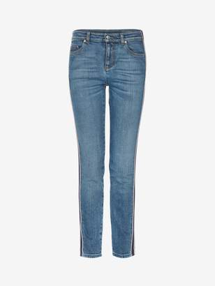 Alexander McQueen Selvedge Stripe Denim Pants