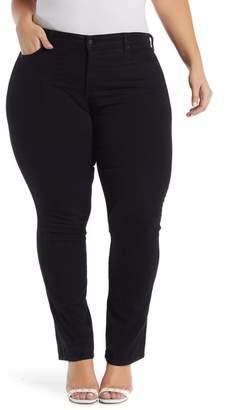 NYDJ Marilyn Rhinestone Embellished Straight Leg Jeans (Plus Size)