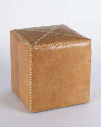 Jamie Young Small Buff Leather Ottoman