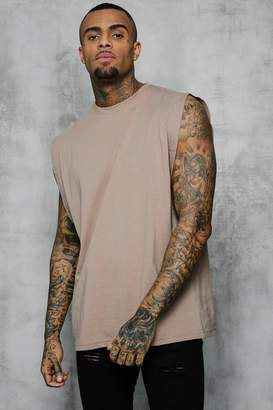 boohoo Oversized Boxy Fit Drop Arm Hole Vest