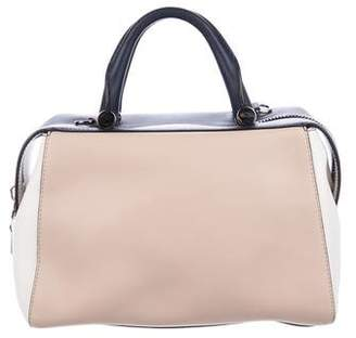 Max Mara Colorblock Leather Satchel