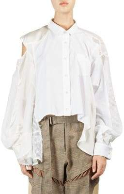 Sacai Combo Button-Down Shirt