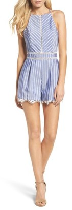 Women's Adelyn Rae Beverly Stripe Romper $89 thestylecure.com