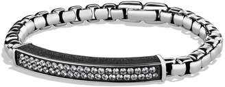 David Yurman Pave ID Bracelet with Gray Sapphires