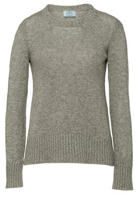 Prada Cable-Knit Cashmere Crew-Neck Sweater