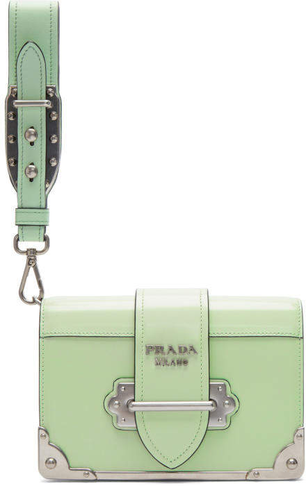 Prada Green Cahier Clutch