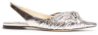 Jimmy Choo Annabelle Metallic Leather Slingback Pumps - Womens - Silver