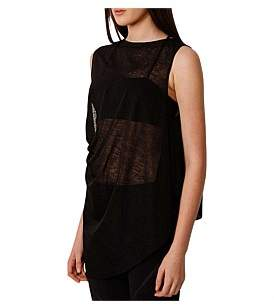 Out Incorporated Tease Draped Asymmetric Sheer Sport Tee