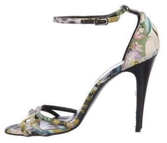 Balenciaga Floral Ankle-Strap Sandals