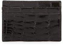 Neiman Marcus Alligator Card Case, Black