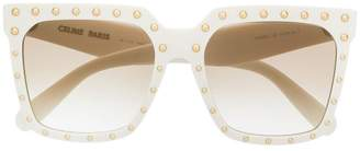 Celine studded square-frame sunglasses