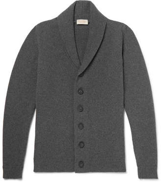 John Smedley Shawl-Collar Wool And Cashmere-Blend Cardigan