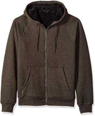 John Varvatos Men's Long Sleeve Zip-Front Hoody
