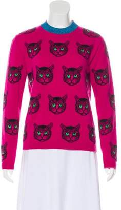 Gucci 2018 Mystic Cat Sweater Magenta 2018 Mystic Cat Sweater