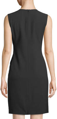 Karl Lagerfeld Paris Pearl-Embellished Sleeveless Sheath Dress