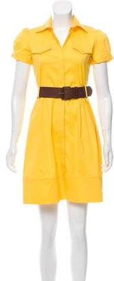Theory Belted A-line Dress