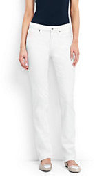 Lands' End Women's Tall Mid Rise Straight Leg Jeans - Stain Repellent-White $79 thestylecure.com