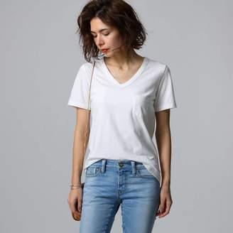 JET (ジェット) - ジェット JET 【洗える】コットンVネックTシャツ (ホワイト)