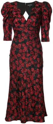 Saloni floral print V-neck dress