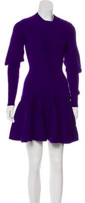 Alexander McQueen Flounced Wool Dress w/ Tags