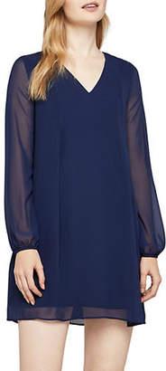 BCBGeneration Long Sleeve V-Neck Back Bow Dress
