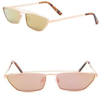 Steve Madden 27mm Rectangle Novelty Sunglasses