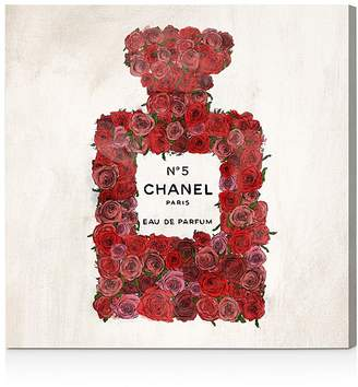 "Oliver Gal Number 5 Red Rose Wall Art, 20"" x 20"""