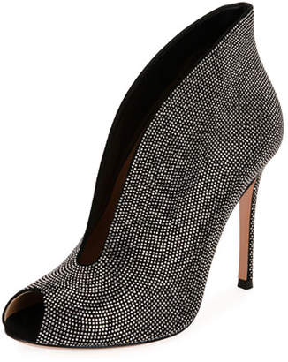 Gianvito Rossi Embellished Suede 105mm Booties