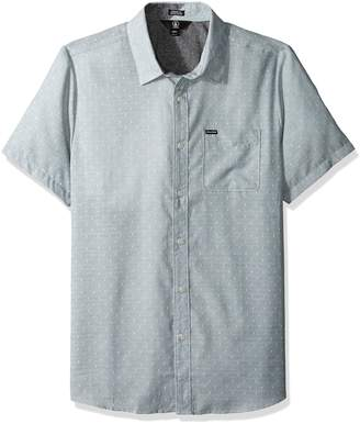 Volcom Men's Dobler Short Sleeve Button up Solid Shirt