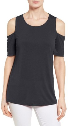 Petite Women's Halogen Cold Shoulder Tee $39 thestylecure.com