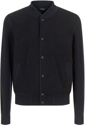Ermenegildo Zegna Textured Logo Wool Bomber Jacket