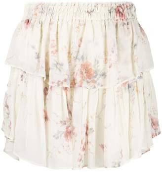 LoveShackFancy Love Shack Fancy floral ruffle skirt