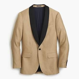J.Crew Ludlow shawl-collar tuxedo jacket in linen-silk