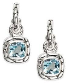 John Hardy Kali Blue Topaz & Sterling Silver Drop Earrings