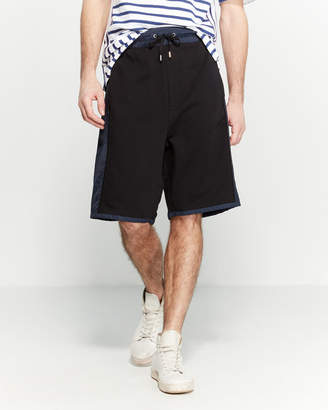 Public School Mixed Media Drawstring Shorts