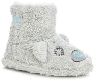 acf2b6338aff2 at Debenhams · Tatty Teddy - Girls  Grey Faux Fur Slippers