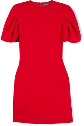 Alexander McQueen Cape-effect Wool-blend Crepe Mini Dress - Red