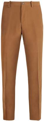 CONNOLLY Mid-rise slim-leg crepe trousers