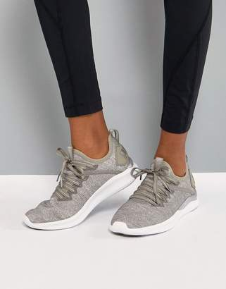 Puma Ignite Flash EvoKnit Trainers In sTONE
