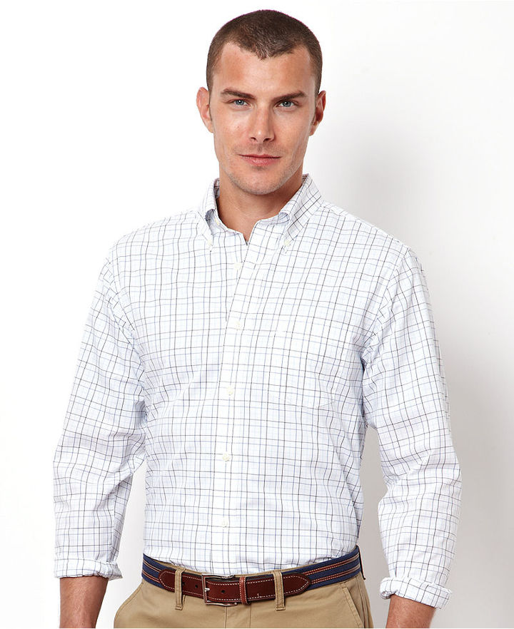 Nautica Shirt, Long Sleeve Wrinkle Resistant Window Pane Shirt
