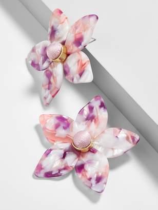 BaubleBar Amariella Flower Stud Resin Earrings-Lilac
