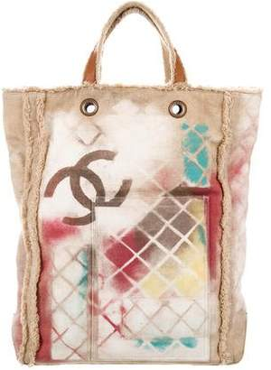 Chanel Graffiti Canvas Tote