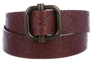 Gucci Guccissima Buckle Belt