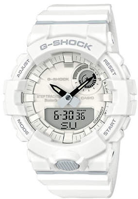 Casio Mens White Multi-Function G Shock Step-Tracker GBA800 Watch