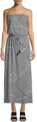Tommy Bahama Fractured Stripe Bandeau Maxi Dress