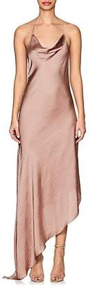 Juan Carlos Obando Women's Washed Satin Backless Gown - Pink